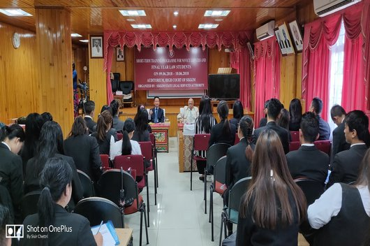 Short-term Training Programme for Novice Lawyers & Final year students held on 09.06.2018-10.06.2018 at Auditorium, High Court of Sikkim.