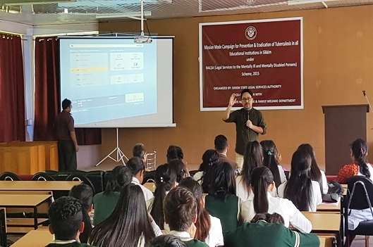 Mission Mode Campaign for Prevention & Eradication of Tuberculosis in all Educatonal Institutions in Sikkim held on 27.08.2019 at Nar Bahadur Bhandari Degree College, Tadong