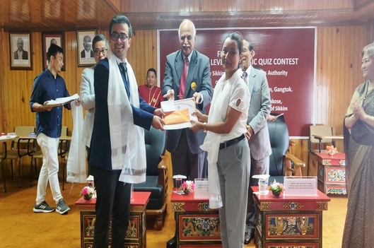 The final round of the Academic Quiz Contest was held on 6th August, 2019 (Tuesday) in the Auditorium of the Honble High Court of Sikkim.