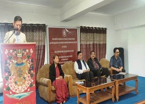 Mission Campaign Mode for Prevention & Eradication of Tuberculosis in Educational Institutions in Sikkim on 14th August, 2019 at Sikkim Government Law College, Burtuk, East Sikkim