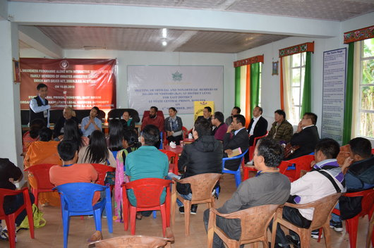 Legal Awareness Programme along with interactive session with the family members of inmates arrested under Sikkim Anti Drugs Act, 2006/ N.D.P.S. Act 1985 held on 19.05.2018 at State Central Prison, Rongyek, East Sikkim
