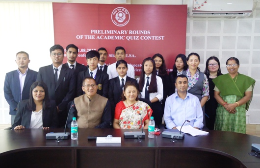 Preliminary Rounds of the Academic Quiz Contest held on 1st August, 2017 at Sikkim SLSA