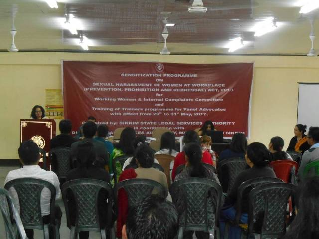 Sensitization Programme on Sexual Harassment of Women at Workplace held at North Sikkim on 29th to 31st May, 2017