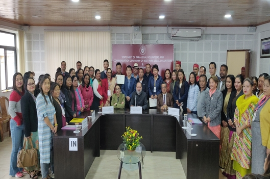 State Meet of PLVs and Commendation Ceremony of the best Para-Legal Volunteers & Legal Aid Panel Lawyers on 24th October, 2019 in the Conference Hall of Sikkim SLSA