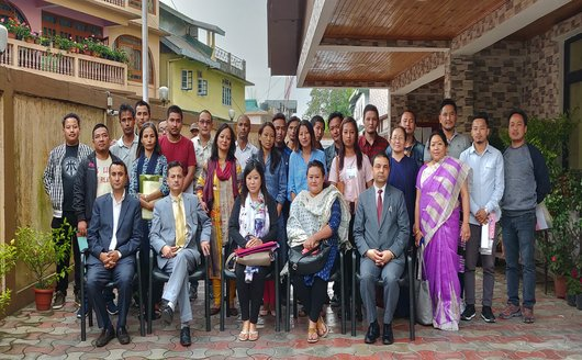 Training Programme for Counsellors of all De-Addiction and Rehabilitation Centres of Sikkim held on 06.10.2018 at Training Hall, Sikkim SLSA