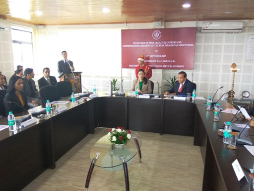 State Meet of Para-Legal Volunteers and Commendation Ceremony of the Best Para-Legal Volunteers on 23rd September, 2017 at Conference Hall, Sikkim SLSA