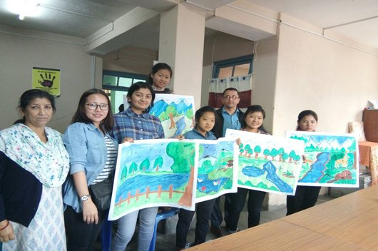 Painting Competition held on 15.04.2018 for the children from underprivileged background residing in Child Care Institutes/Shelter Homes.