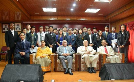 Final Rounds of the Academic Quiz Contest held on 19th August, 2017 at Auditorium, High Court of Sikkim