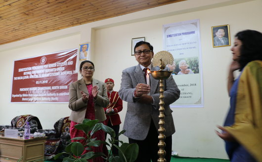 Sensitization Programme for Senior Citizens and retired Government Servants under NALSA (Legal Services to Senior Citizens)Scheme, 2016 held on 03.11.2018 at Panchayat Bhawan, Chungthang, North Sikkim