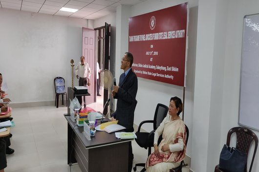 Training Programme for Panel Advocates of Sikkim SLSA held on 21.07.2018 at Sikkim Judicial Academy, Sokeythang, East Sikkim.