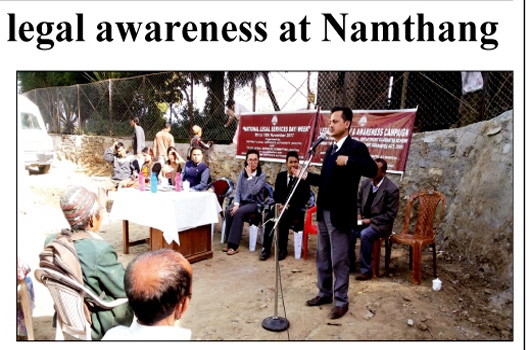 Health Camp, Legal awareness at Namthang, South Sikkim