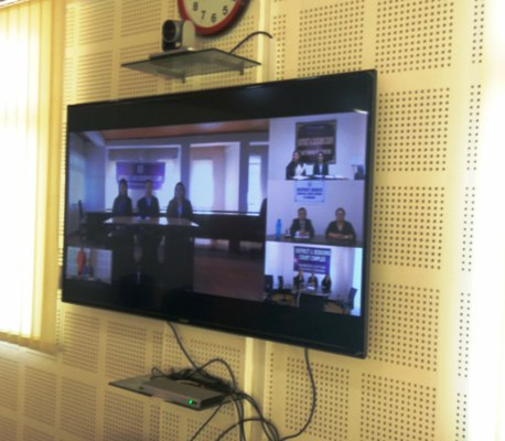 The first Video Conference between Sikkim SLSA and DLSAs held on 16.09.2017